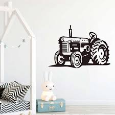 Cartoon Farm Tractor Truck Home Decor Wall Sticker Nursery For Kids Room Living Room Removable Vinyl Wall Decals S112 Wall Stickers Aliexpress