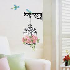 New Delicate Birdcage Wall Stickers For Kids Room Home Wall Decor Vinyl Removeable Mural Decal With Birds Sticker Hot Selling Sticker For Kids Room Wall Stickers For Kidswall Sticker Aliexpress
