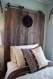 Love The Use Of A Rustic Door As A Headboard This Is All Boy Cowboy Room Home Room Inspiration