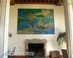 painting over fireplace in lobby