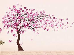 Amazon Com Pop Decors Removable Vinyl Art Wall Decals Mural Cherry Blossom Tree Dark Brown Hot Pink Baby