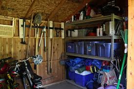 outdoor shed organization ideas