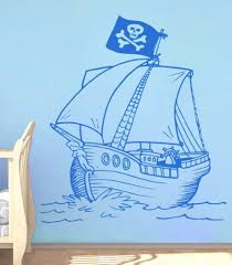 Pirate Ship Nursery Kids Decals Little Pirates Wall Stickers On Luulla