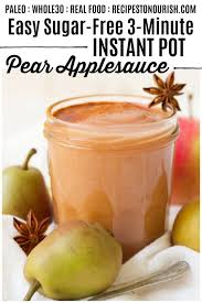 sugar free instant pot pear applesauce