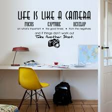 Life Is Like A Camera Wall Sticker Decal Quote Art Vinyl Decor Home Room For Sale Online