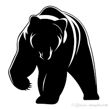 2020 15 15cm Cute Grizzly Bear Decal Vinyl Car Sticker Black Silver Ca 1074 From Zhangchao188 0 34 Dhgate Com
