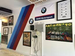 M Stripes For Bmw Garage Garage Decor Garage Design Garage Paint Colors