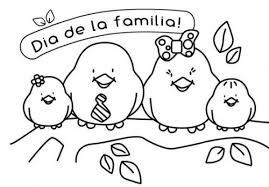 familia para imprimir y pintar