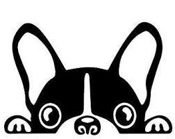 Boston Terrier Decal Etsy