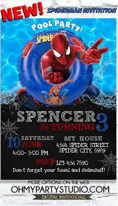 Spiderman Birthday Party Spiderman Invitation Spiderman