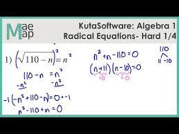 kuta algebra 1 radical