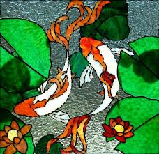 koi stained glass patterns love these
