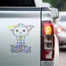 3 Colors Baby Yoda Decal Mandalorian Star Wars Sticker For Car Window Truck Vehicle Bumper Laptop