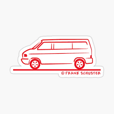 Vw Bus Stickers Redbubble
