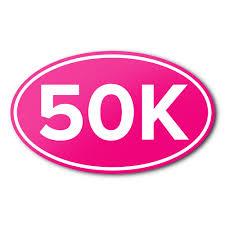 50k Anti Uv Vinyl Bumper Sticker Ultra Marathon Running Race Cycling Car Decal Ebay
