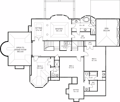 plan with 4 bedrooms and 3 5 baths