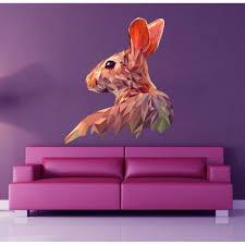 Shop Bunny Polygonal Wall Decal Bunny Sticker Overstock 32283846