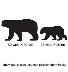 Vinyl Wall Decal Sticker Polar Bear W Baby Set 217 Stickerbrand