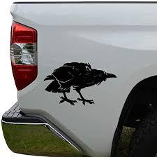 Amazon Com Rosie Decals Raven Bird Die Cut Vinyl Decal Sticker For Car Truck Motorcycle Window Bumper Wall Decor Size 6 Inch 15 Cm Wide Color Gloss White Home Kitchen