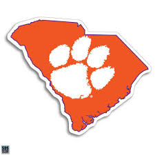 Sds Design Clemson Tigers Paw And State 6 Decal Mr Knickerbocker