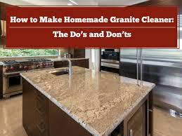 diy homemade granite cleaner lesher