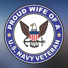 Proud Wife Of A U S Navy Veteran Window Decal Sticker Navy Veteran Proud Wife Us Navy