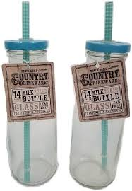 com vintage glass milk bottles