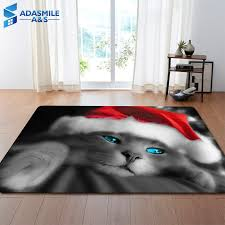 Super Deal 73c0 Christmas Party Decoration Rugs 3d Lovely Cat Carpets Kids Room Play Mat Flannel Memory Foam Area Rug Carpet For Living Room Cicig Co