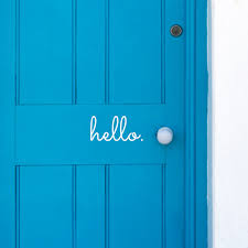 Hello Vinyl Front Door Decal Front Door Vinyl Door Decals