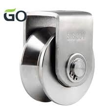 2 Inch V Type Pulley Roller 304 Stainless Steel Sliding Gate Roller Wheel Bearing For Material Handling And Moving Shopee Philippines