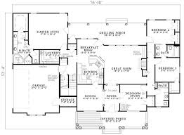 southern style house plan 61377 with