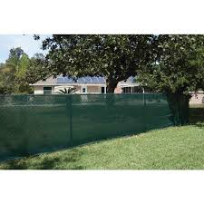 Unbranded 92 In X 50 Ft Mesh Fabric Privacy Fence Screen With Integrated Button Hole In Green Tkm140730e The Home Depot