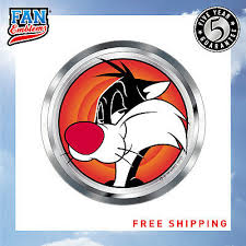 Almost Anything Lni Australia 9672 076 Laptops Motorcycles Automotive Sticker Decal Badge Flexes To Fully Adhere To Cars Trucks Windows Fan Emblems Looney Tunes Sylvester The Cat 3d Car Emblem Domed Multicolor Chrome