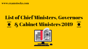 list of chief ministers governors