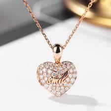 unique 18 k rose gold heart shaped box