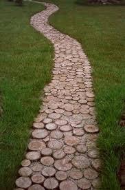 affordable wooden garden path ideas