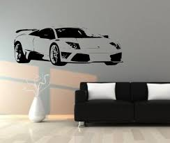 Lamborghini Murcielago Sports Car Wall Sticker Mural Decal Wall Art Car Themed Bedrooms Decal Wall Art Wall Stickers Sports