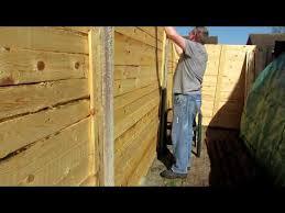 Pallet Wood Fence Panels 6ft X 6ft Youtube