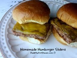 homemade hamburger sliders