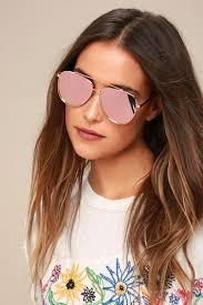 rose gold aviator sunglasses mirrored