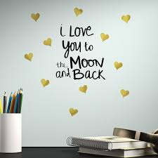 Trule Love You To The Moon Quote Peel And Stick Wall Decal Reviews Wayfair