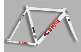 Cinelli Mash Bicycle Bike Frame Decal Sticker Adhesive Set Vinyl Sheet Red Ebay