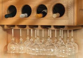 custom kitchen cabinets hanging wine