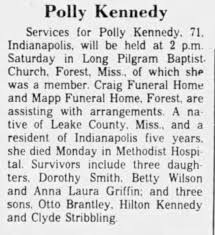 Obituary for Polly Kennedy (Aged 71) - Newspapers.com
