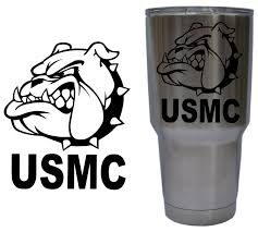 United States Marine Corps Usmc Bulldog Decal For Yeti 30 Oz Rambler Tumbler Cup Decal Only Glossy Permanent Vinyl Purchase Thi Usmc Decal Usmc Cup Decal