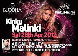 RA: Kinky Malinki with Abigail Bailey at Buddha Lounge, South + East (2012)