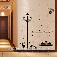 Sk9180 Decor Wall Sticker Park Bench Street Lamp Cat Creativity Diy Home Bedroom Tv Decorative Wall Decal Buy Home Decor Park Bench Cat Steet Lamp Tree Butterfly Park Street Lamp Wall Decal Product