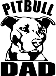 Amazon Com Pitbull Dad 6 Tall Die Cut Decal Sticker For Laptop Car Window Tablet Skateboard Black Computers Accessories
