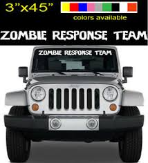 Zombie Response Big Window Decal 45 X3 Car Or Truck Front Window Sticker Ebay
