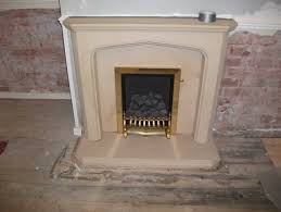 stains from a limestone fireplace